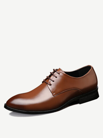 Men Classic Pointed Toe Business Formal Dress Shoes