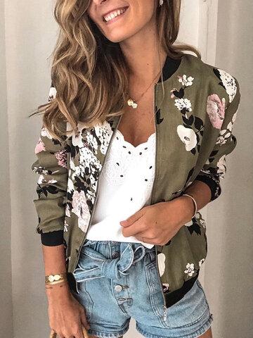 Floral Printed Casual Jacket