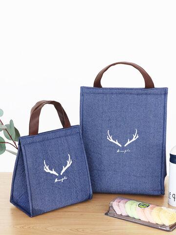 Denim Lunch Tote Bag