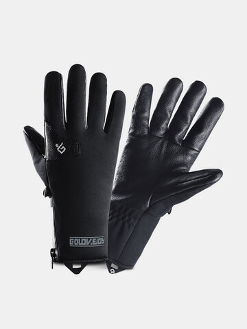 Men Waterproof Leather Gloves