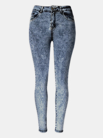 Slim Stretch Jeans High Waist Pants