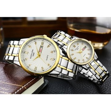 Fashion Alloy Couple Quartz Watch
