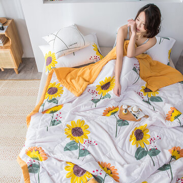 Soft Cotton Towel Blankets for Beds Sunflower Pineapple Summer Quilt Full Queen Sofa Bed Cover Plaid Bedspread Sheet