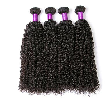 1 Bundle Brésilien Kinky Bouclés Vierge de Cheveux Humains Tissage Couleur Naturelle