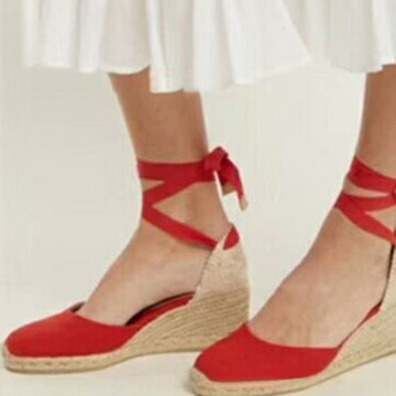 Large Size Strappy Espadrilles Shoes