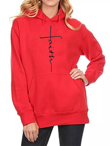 Embroidered Plus Size Hoodie