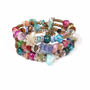 Bohemian Crystal Multi-Layer Bracelet