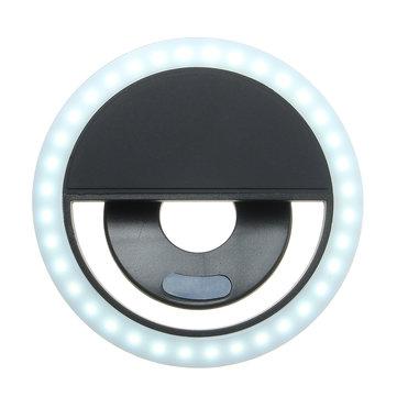 Selfie Portable LED Ring Fill Light Camera Photography Smart Phone Cell Phone Flashlight