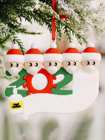 1Pc 2020 Quarantine Christmas Birthdays Party Decoration Gift Product Personalized Tree Hanging Ornament Decor