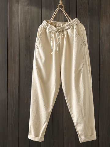 Solid Loose Plus Size Harem Pants