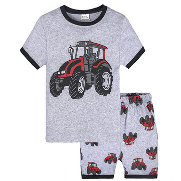 2Pcs Graphic Boys Clothing Set para 1Y-9Y