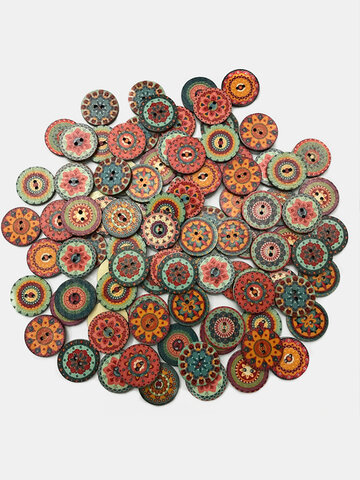 Classical European Style DIY Handmade Buttons Home Decoration Retro Pattern Buttons