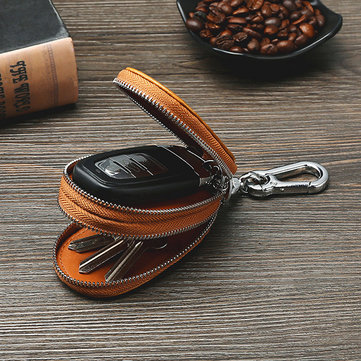 Men Genuine Leather Car Key Holder Key Bag
