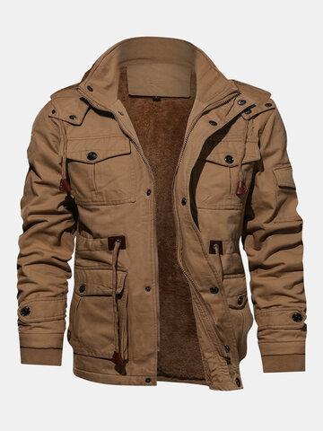 Thickened Warm Multi Pockets Jacket