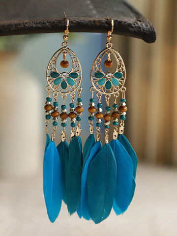 Alloy Vintage Feather Earrings