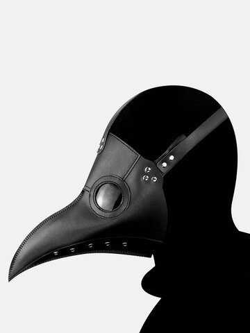 1 PC Halloween Medieval Steampunk Plague Doctor Bird Mask PU Faux Leather Punk Cosplay Masks Long Nose Beak Adult Halloween Event Cosplay Props - Coppery with copper
