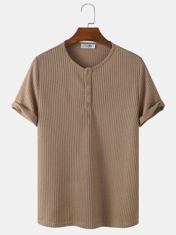 T-shirt en tricot gaufré