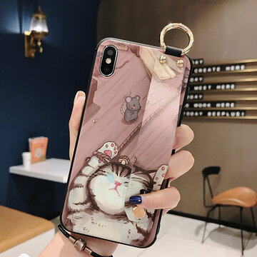 Woman Cute Animal Cat Cartoon TPU Soft Shell