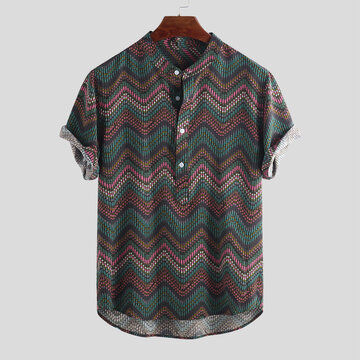 Men's Ethnic Printed Henley Shirts