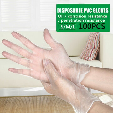 Gants en latex nitrile jetables transparents en PVC