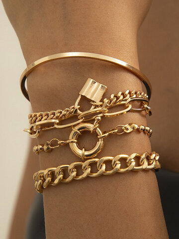 Lock Bracelet Set