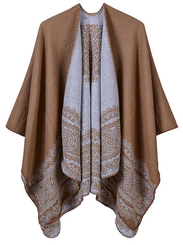 Lace Irregular Shawl Cardigan