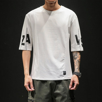 Japanese Trend Hip Hop Loose Short-sleeved T-shirt Men's Casual Bf Port Wind Round Neck Wild Half-sleeve T-shirt Top