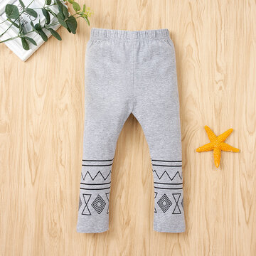 Children Printed Soft Pants For 1-7Y