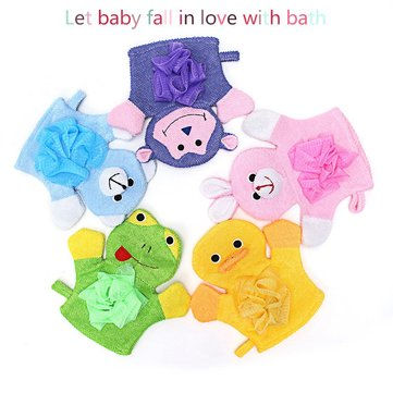 Children Baby Shower Bathing Bath Gloves