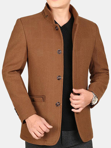 Winter Mid Long Thicken Woolen Jacket