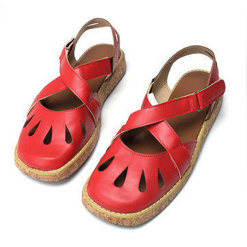 Closed Toe Hollow Sandals