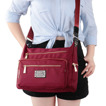 Women Waterproof Multi-pockets Nylon Crossbody Bag фото