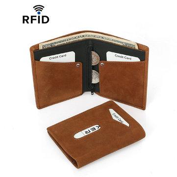 RFID Porta biglietti da visita multi-funzione da uomo Vera Pelle