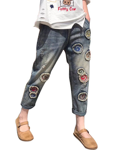 Retro Patch Denim