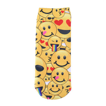 3D Digital Emoji Expression Socks