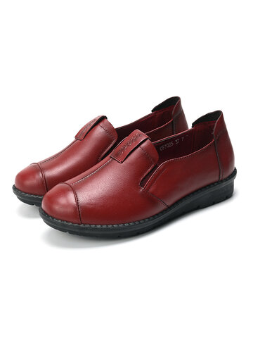 Round Toe Slip On Loafers