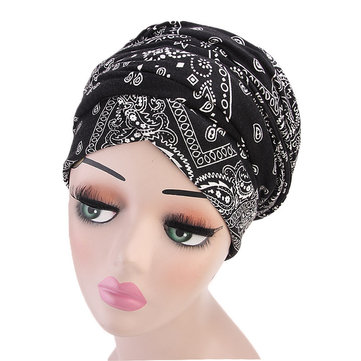 Women Cotton Cool Vintage Turban Gardening Adjustable