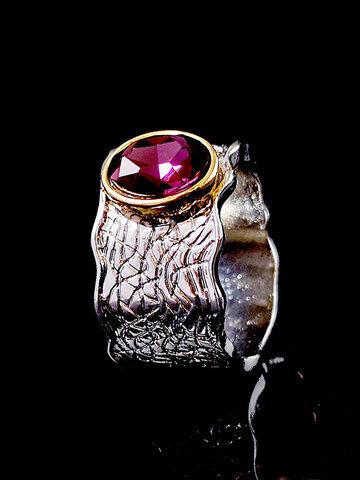 Amethyst Corrugated Ring