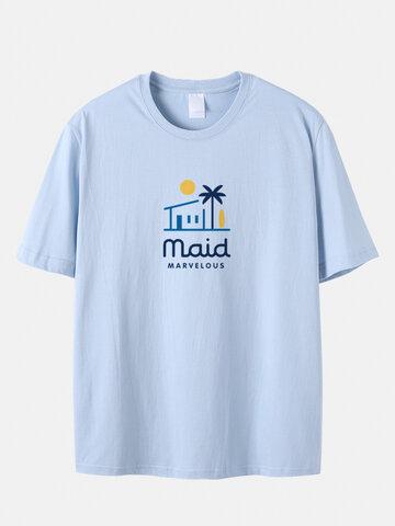 T-Shirts mit tropischem Print in Übergröße