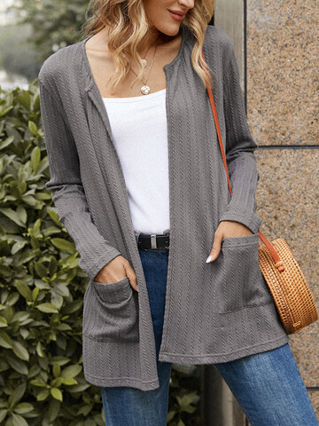 Casual Long Sleeve Cardigans