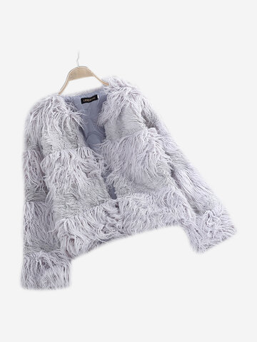 Faux Fur Fluffy Outerwear Coat