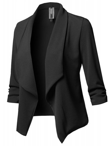 Casual Shawl Collar Blazer