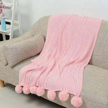 Knitted Throw Crochet Blanket