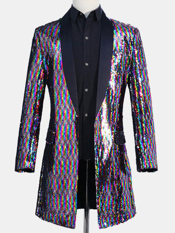 Men's Sequin Classic Casual Dress Suit