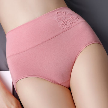 Plus Size High Waisted Cotton Panties