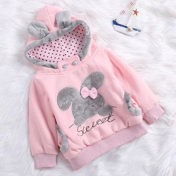 Fleece Hooded Girls Sweatshirts For 2Y-9Y