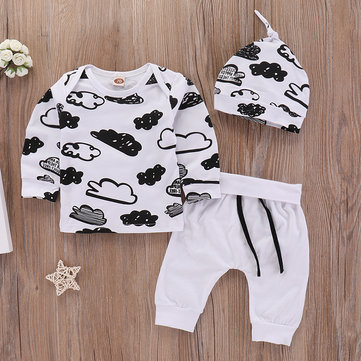 3Pcs Cloud Cotton Baby Set For 0-24M