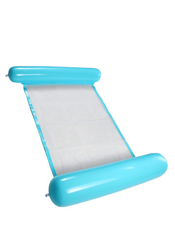 Water Hammock Single People Inflatable Backrest Beach Lounger Swimming Pool Bed