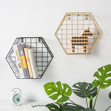 Mensola a muro Hexagon Iron Grid