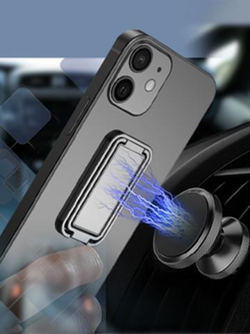 1 पीसी जिंक मिश्र धातु यूनिवर्सल फोल्डेबल मोबाइल फोन सहायक उपकरण ब्रैकेट 360 रोटेशन डबल फिंगर लिफ्ट रिंग होल्डर कार चुंबकीय माउंट सेल फोन के लिए स्टैंड